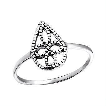 Teardrop - 925 Sterling Silver Plain Rings - W24591X