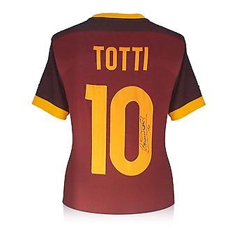 Francesco Totti Signed AS Roma 2015-16 Authentic Home Shirt