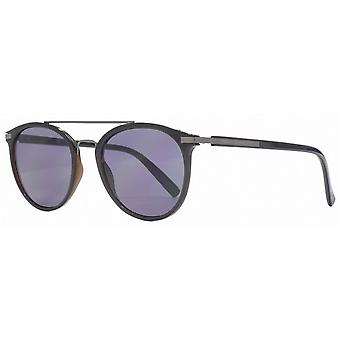 French Connection Retro Slim Double Brow Sunglasses - Black/Brown