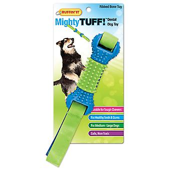 Mighty Tuff Ribbed Bone Tug Dog Toy- 80622