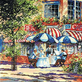 Cafe In The Sun Counted Cross Stitch Kit 14