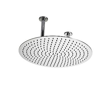 Hudson Reed Chrome Round Ceiling Mounted Shower Head - 500mm Diameter
