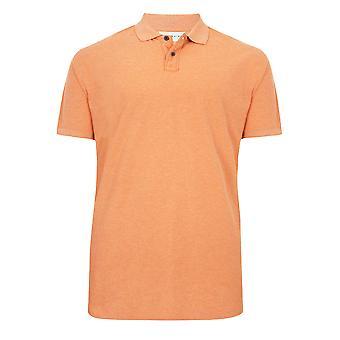 BadRhino Short Sleeve Orange Marl Vintage Washed Polo