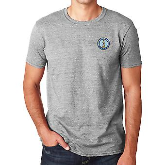 Army National Guard broderad Logo - ringspunnen bomull T Shirt