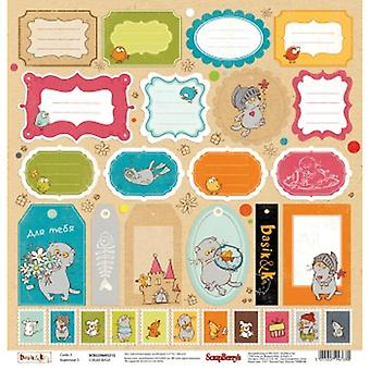 Van ScrapBerry Basik & Ko ' Single-Sided CArdstock 12