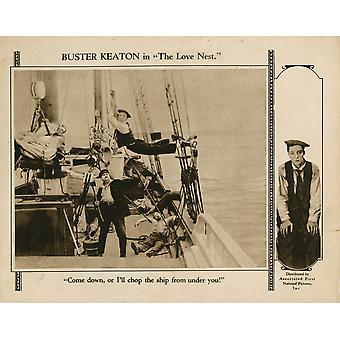Kjærlighet Nest Lobbycard Joe Roberts Buster Keaton 1923 film plakat Masterprint