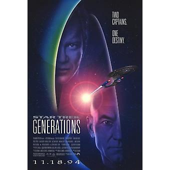 Star Trek Generations Movie Poster (11 x 17)