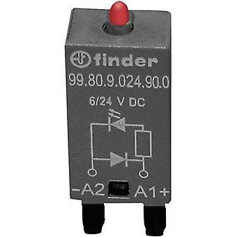 Plug-in module + flyback diode, + LED 1 pc(s) Finder 99.80.9.024.90.0 Light colour: Red Compatible with series: Finder 9