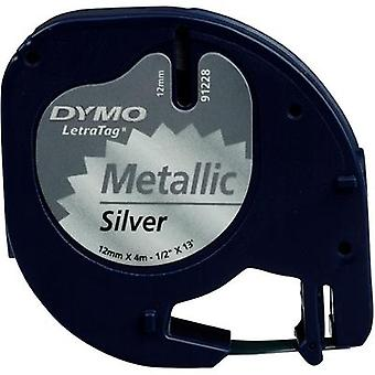 Label roll DYMO 91228 Tape colour: Silver (metal