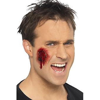 Smiffys Gory Wounds Skin Coloured Self Adhesive Halloween Fancy Dress Accessory
