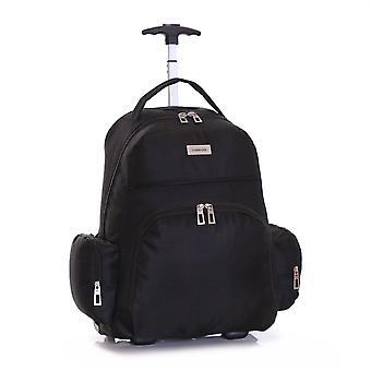 Slimbridge Morley Wheeled Laptop Backpack, Black
