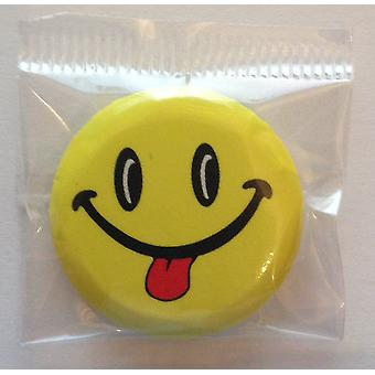 STOCK ITEM | Individual Badges | SMILEY FACES | Ideal Party Bag Badges | SINGLE BADGE