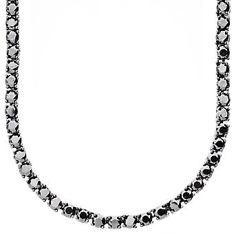 Iced out bling ZIRCONIA stone 1 ROW chain - black