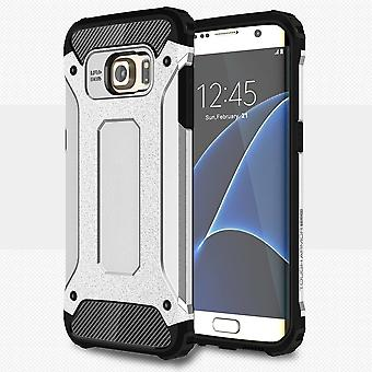 Cover in plastic armor and TPU for Samsung Galaxy S7 Edge (Silver)