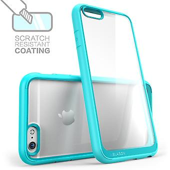 iPhone 6  Plus Case, I-Blason, Clear Case, Scratch Resistant- Clear/Blue