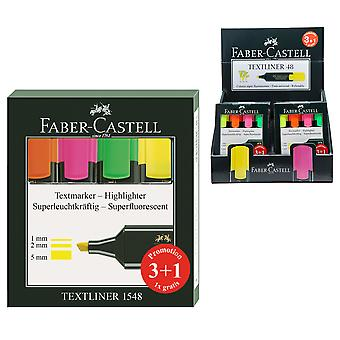 Faber Castell Pack 3 Y 1 Marcadores Fluor Faber-Castell