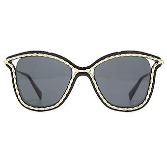 Marc Jacobs Metall Twist Cateye Sonnenbrillen In schwarz