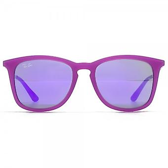 Ray-Ban Junior Square Keyhole Sunglasses In Violet