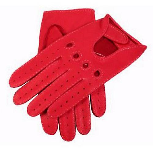 Deuken Berry Hertenleer Leather Driving Handschoenen - Rood
