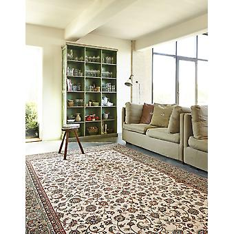 Farsistan Beige 5604-679 Ivory centre with green and russet border. Rectangle Rugs Traditional Rugs
