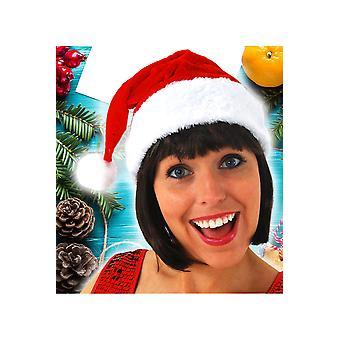 Hüte-Weihnachtsmütze samt Plüsch