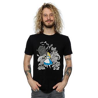 Disney Herren Alice im Wunderland Blumen T-Shirt
