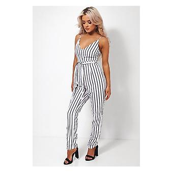 The Fashion Bible Liona Stripe Jumpsuit