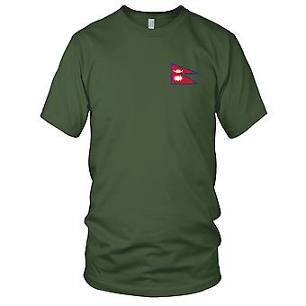Nepal land nationale Flag - broderet Logo - 100% bomuld T-Shirt Herre T-shirt