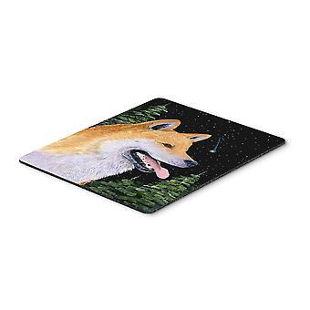 Carolines Treasures  SS8598MP Shiba Inu Mouse Pad / Hot Pad / Trivet