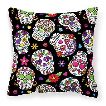 Carolines Treasures  BB5116PW1818 Day of the Dead Black Fabric Decorative Pillow