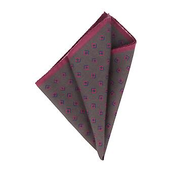 OTTO KERN Pochette anthracite diamonds handkerchief Hanky