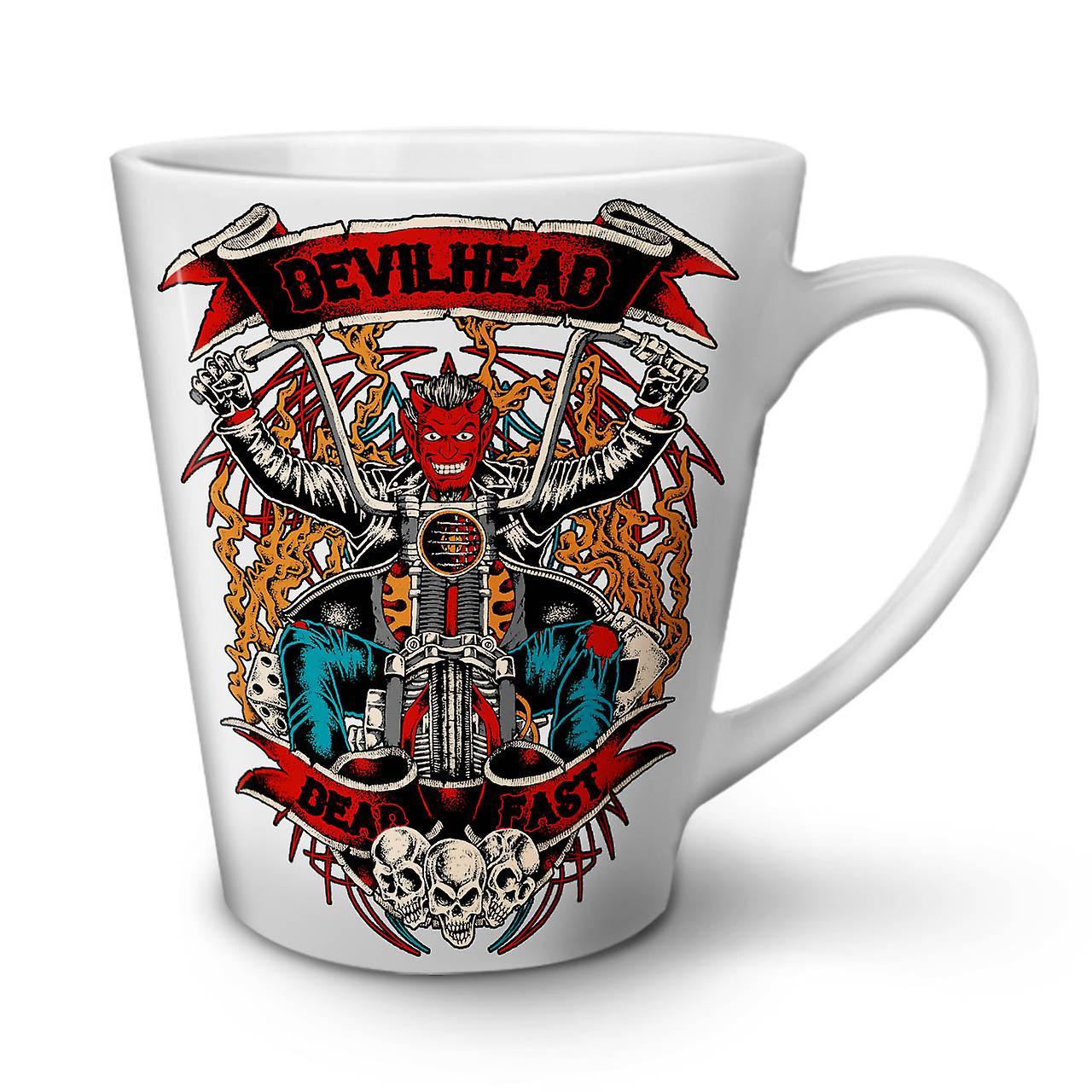 Nouvelle Diable Blanche Biker Tasse Café 12 Satan Chef OzWellcoda Latte En Céramique OZTiPukX
