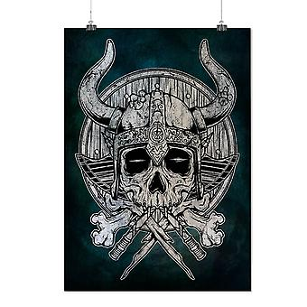 Matte or Glossy Poster with War Death Skull Horror | Wellcoda | *d2798
