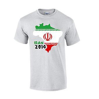 Iran 2014 Country Flag T-shirt (grey)