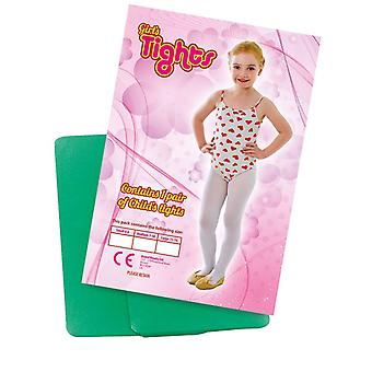 Childs Tights Green 4/6 Small