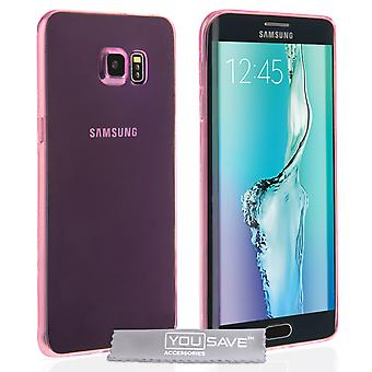 Samsung Galaxy S6 Edge Plus Ultra dunne Gel Case - roze