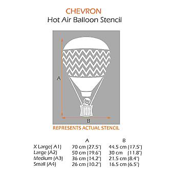 Chevron Balloon Stencil