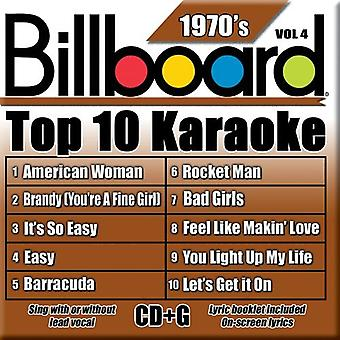 Billboard Top 10 Karaoke - Vol. 4-70's-Billboard Top 10 Karaoke [CD] USA importerer
