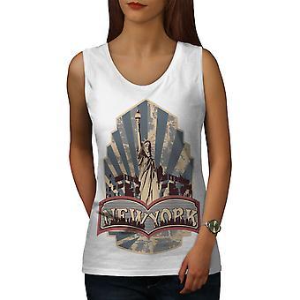 New York Liberty vintage donne WhiteTank Top | Wellcoda