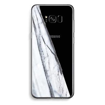 Samsung Galaxy S8 Plus Transparent Case (Soft) - Striped marble