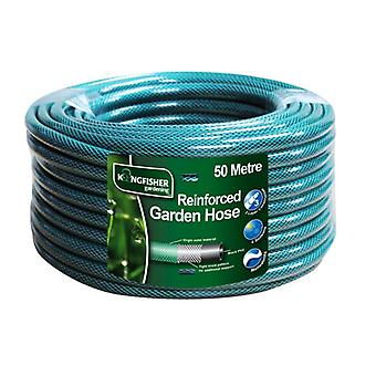 Kingfisher 50 Metre Reinforced Green Garden Hose Quality Outdoor Watering