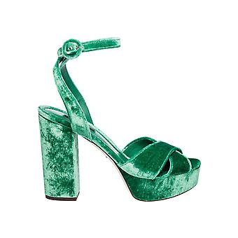 Dolce E Gabbana ladies CR0450A41958H526 Green Velvet sandals