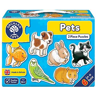 Orchard Toys Pets 2 Piece Puzzle