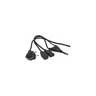EXC AC Power Cord cord set appliance cord Y-Cord 1-8 m-Angled