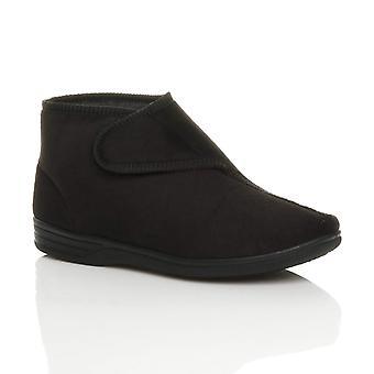 Ajvani mens flat fleece comfort orthopaedic diabetic slippers ankle boots booties