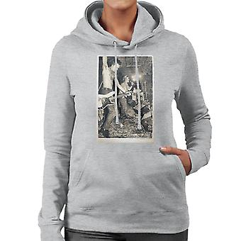 Sid Vicious Sex Pistols On Stage 1977 Women's Hooded Sweatshirt