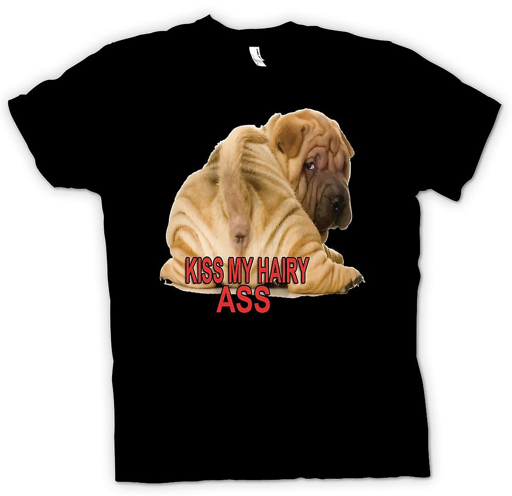 Mens T-shirt - Kiss my Hairy Ass - Dog Lover