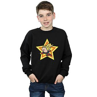 Marvel Boys Kawaii Captain Marvel Sweatshirt