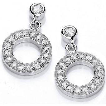 Cavendish French Cubic Zirconia Polo Earrings - Silver