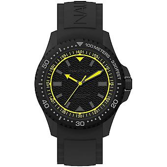Nautica mens watch wristwatch NAPMAU006 silicone